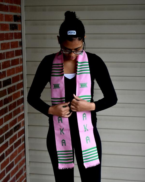 Alpha Kappa Alpha -Light Pink and Green