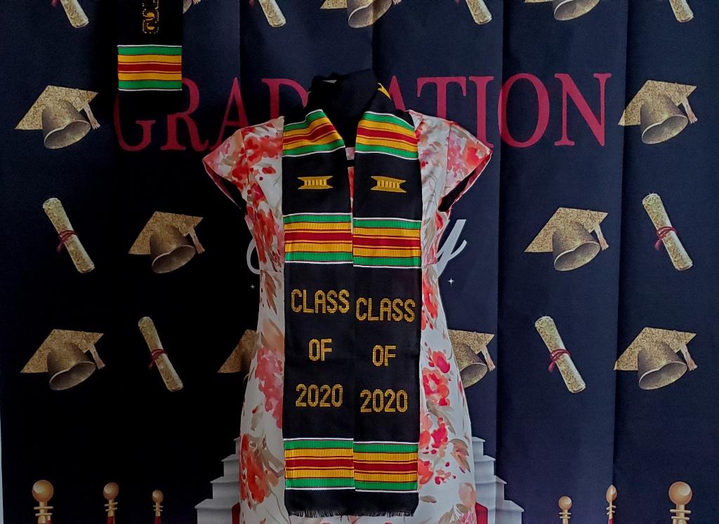 Class of 2021 Graduation Kente-Black