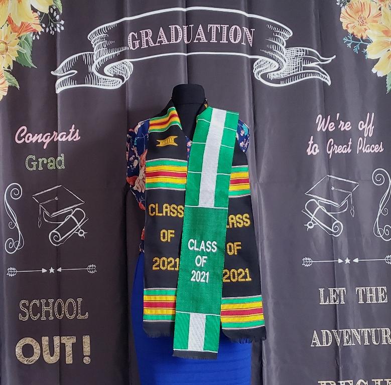 Black Class of 2021 & Nigerian Flag Kente Stoles