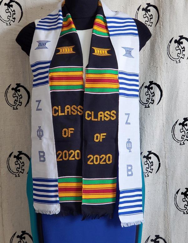 Black Class of 2021 & White Zeta Phi Beta Kente